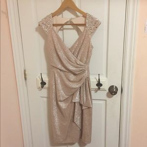 Maggy London Champagne Dress